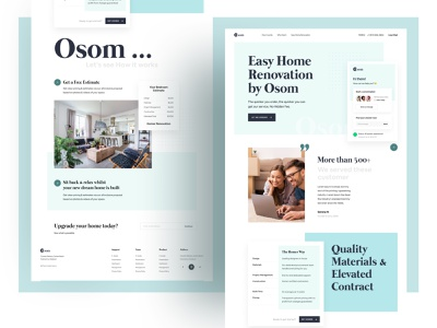 Osom | Real Estate UI creative dribbble best shot dribbble 2021 branding design ofspace agency ofspace website design website web design real estate website real estate ui real estate web real estate app real estate agent realestate real estate branding real estate agency real estate logo real estate
