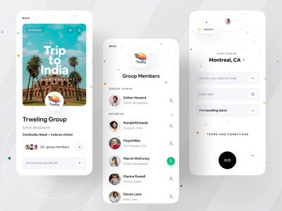 Easy Travel App UI brand identity brand design branding design branding clean ui creative dribbble 2021 clean design ofspace academy ofspace agency ofspace clean app landing travel app design travel app ui travel app clean app design clean app minimal app design minimal app dribbble best shot