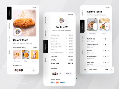 Food Bill Split App dribbble dribbble 2021 ofspace academy ofspace agency ofspace app development company app designers app design foodie food illustration food and drink finance business financial app finance logo financial finances finance finance app food app food