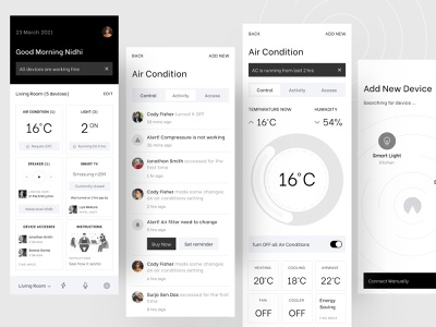 Smart Home (A very Simple Experience for the users) app ux ux template ui illustration logo branding ofspace agency ofspace gradient dribbble 2021 creative design dribbble best shot uber design uber style minimal app design toptal smart home experience smart home