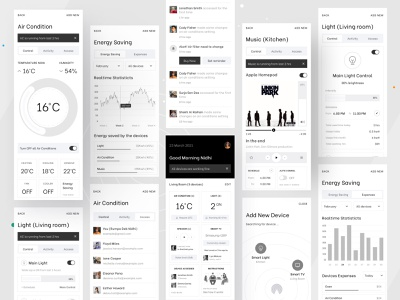 Smart Home (A very Simple Experience for the users) creative design ux template ui gradient illustration logo branding dribbble best shot best of dribbble dribbble trend dribbble 2021 app design smart home app smart smart home
