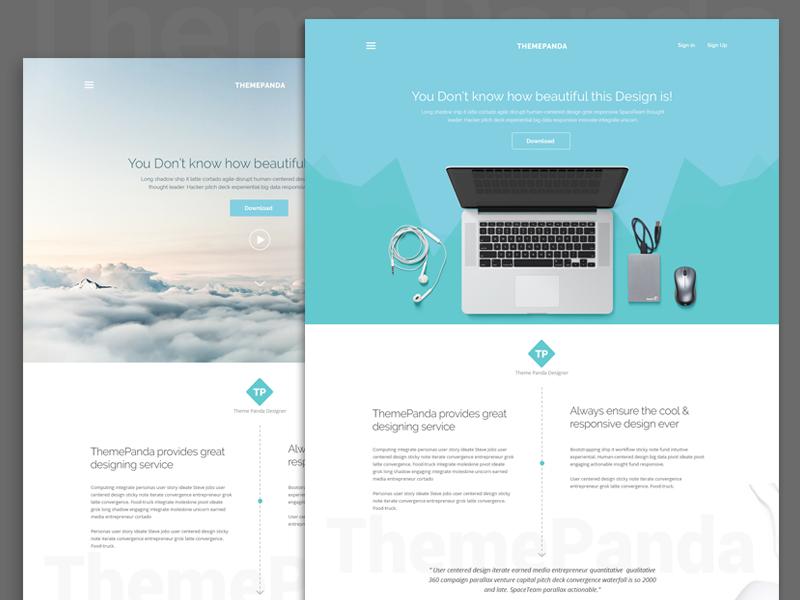 ThemePanda: Cool Landing Page Design by Surja Sen Das Raj ...