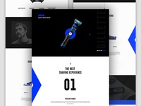 Landing page Design for Gillette Fusion ProGlide