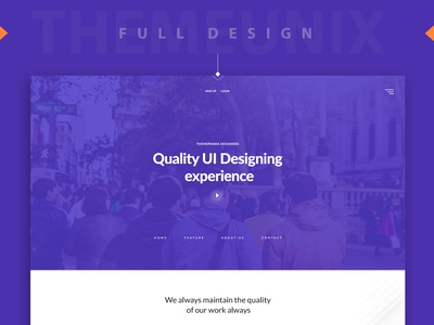 Themeunix: Web Landing page Design ux ui best dribbble shot responsive design dribbble template psd landing page design