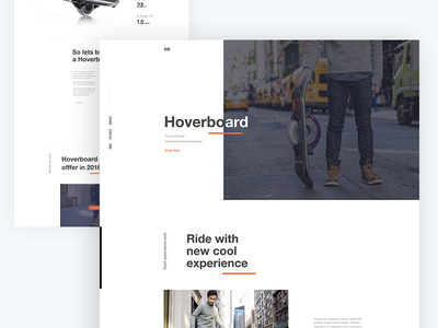 Hoverboard Landing Page Concept hoverboard creative illustration template dribbble best shot app landing page landing page