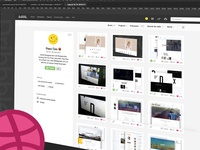 Dribbble Recent Redesign Concept