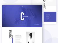 DEX Creative Landing Page Design III