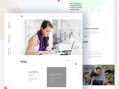Training Center Institute Landing page  training center creative illustration template dribbble best shot app landing page landing page