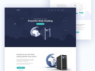 Landing Page for Web Hosting Company