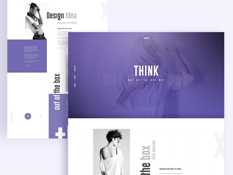 Think out of the Box :) ...  illustration template dribbble best shot app landing page landing page creative out of the box