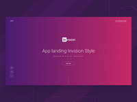 WIP: App Landing Page Design (InVision Style)  creative illustration template dribbble best shot app landing page landing page invision