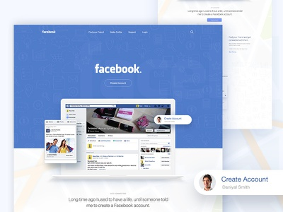 WIP : FB <3 -  Find - Connect - Happy Chat ;) ;)  creative illustration template dribbble best shot app landing page facebook landing page facebook