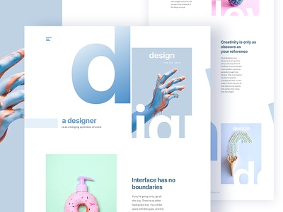 Design is so simple, That's why it's so complicated :) ux ui template typography gradient color creative design