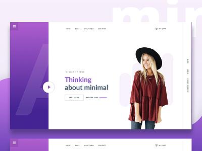 Minimal Concept  dribbble gradient color design template ux ui minimal. design