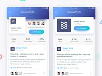 Articlex Profiles - Business Profile Screens