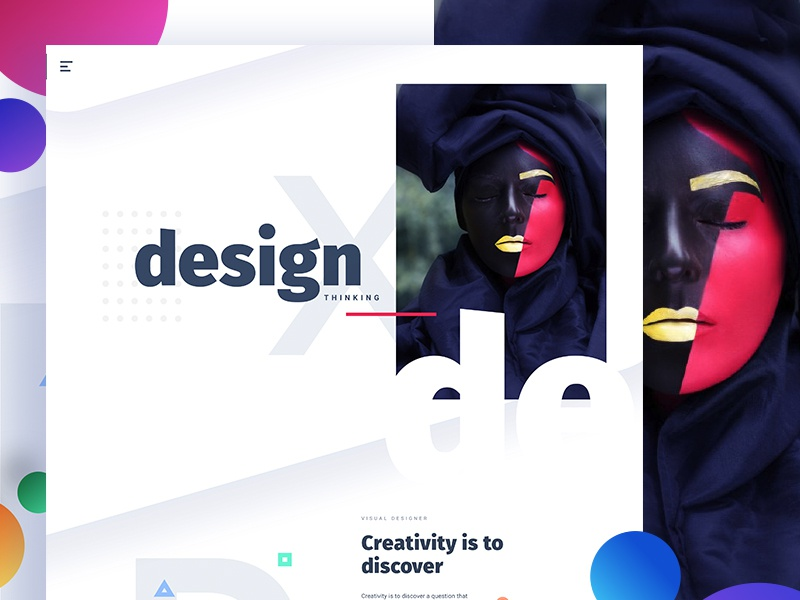 D E S I G N  - Creativity is to discover gmail google design creative color gradient typography template ui ux bubble new trend