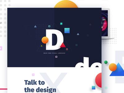 Experimental Design  new trend bubble ux ui template typography gradient color creative design google gmail
