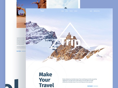 Trip : Take only memories, leave only footprints. landing page trave travel agency agency landing travel agency landing app landing page dribbble best shot template illustration travel real estate