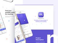 Meeting Room Booking - iOS App Design Concept