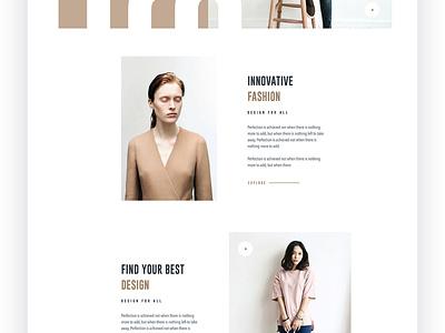Fashion Web Exploration fashion trimbo app design mockups wireframe theme presentations uikits uikit