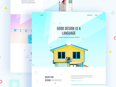 Good design is a language, Not a style gmail google design creative color gradient typography template ui ux bubble new trend