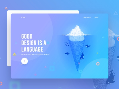 Visual Language new trend bubble ux ui template typography gradient color creative design google gmail