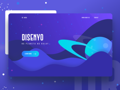 Planet Design Thinking new trend bubble ux ui template typography gradient color creative design google gmail