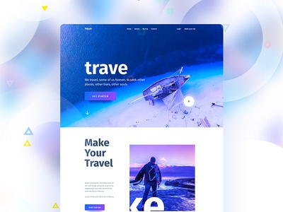 Visual Language 5 : Travel new trend travel ux ui template typography gradient color creative design google gmail