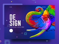 Visual Language 6 new trend bubble ux ui template typography gradient color creative design google gmail