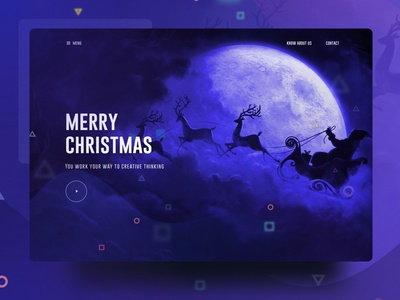 Visual Language 10 : Merry Christmas! new trend bubble ux ui template typography gradient color creative design google gmail