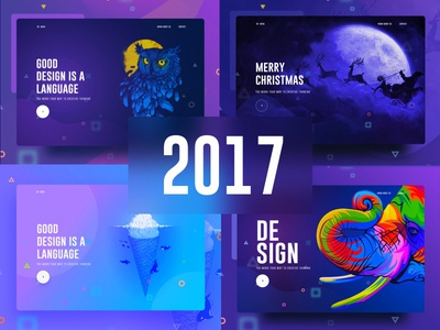 Visual Language Series 2017 new trend bubble ux ui template typography gradient color creative design google gmail