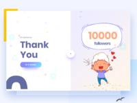 10000 Followers on Behance
