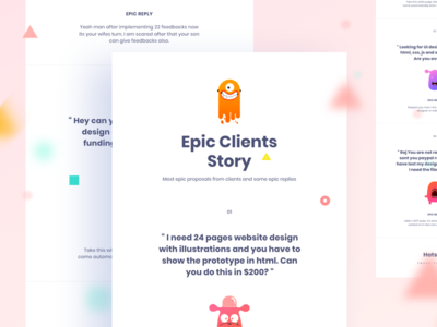My freelancing Career : Epic Clients new trend bubble ux ui template typography gradient color creative funny epic epic client