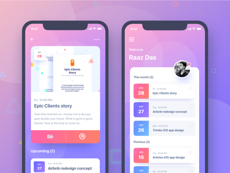 iOS App Concept gmail google design creative color gradient ui ux social ui app social trimbo