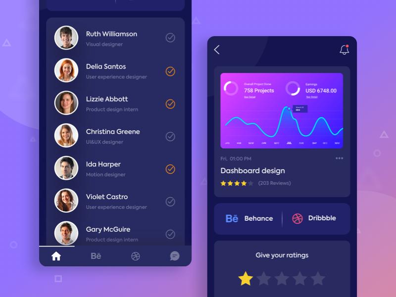 Dark version: iOS App Concept