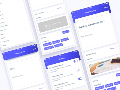 Articlex : Post app atriclex app design new product profile landing page app landing page dribbble best shot template illustration creative
