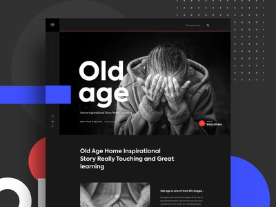 Old Age Home Inspirational Story gmail google design creative color gradient typography template ui ux bubble new trend