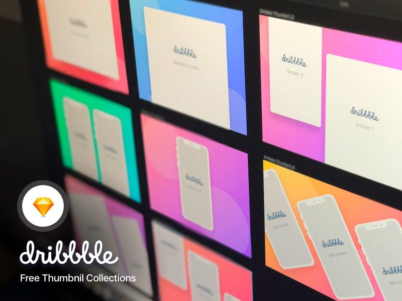 Dribbble Thumbnail Mockup Collections