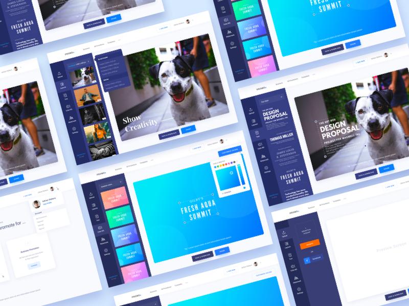 Social Promotion Application Concept promo social app social ui ux ui gradient color creative design google promotional