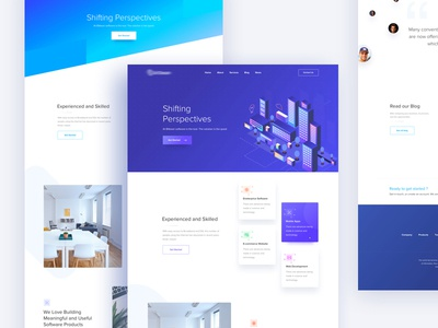 All Versions : Website Design for a Software Company website bitbean colorful graph app animation shifting branding logo quotes curve isometric