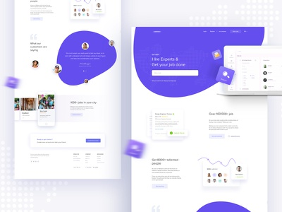 Hire Experts & Get your job done : V3 uinugget job job landing ui work gradient color creative design google gmail
