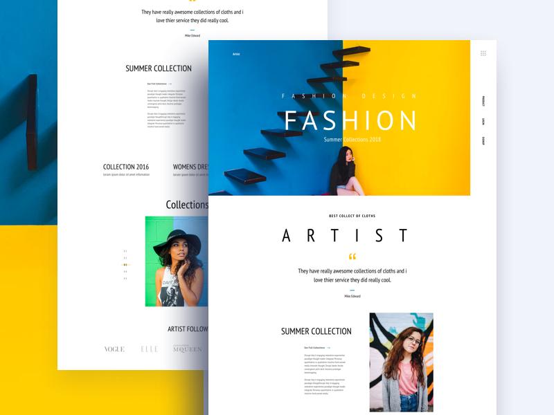 Fashion Interface uinugget job team uinugget ui dex gradient color creative fashion landing