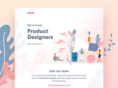 Zomato is hiring Product Designers