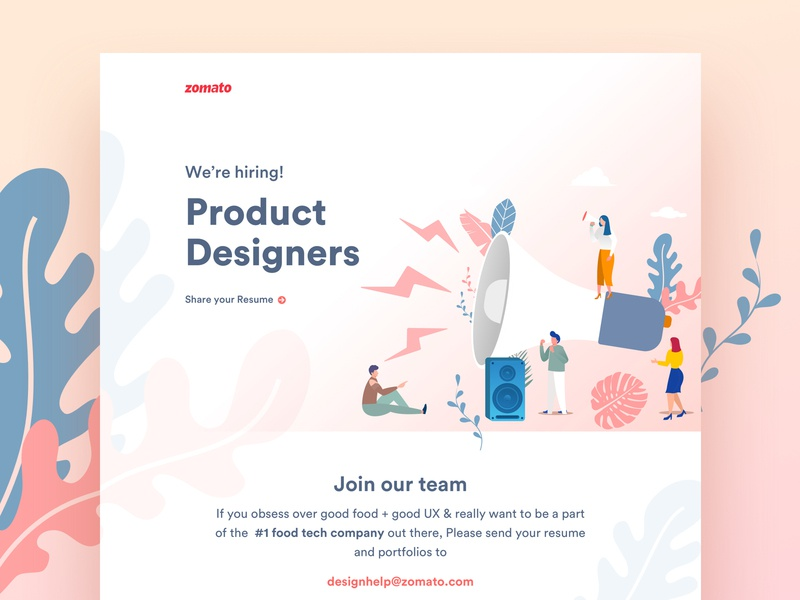 Zomato is hiring Product Designers zomato gold think food think zomato food zomato our team design product designer hiring product designer join us join our team designers hiring
