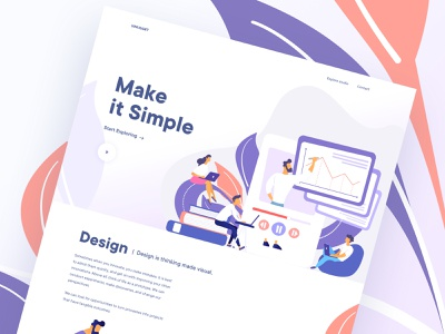 Make it Simple website design company agency landing page agency template product design visual design gradient color minimal design simple design make it simple best of dribbble uinugget team uinugget website design design illustration dribbble best shot gradient typography creative
