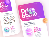 Dribbble: Thank you Dribbble
