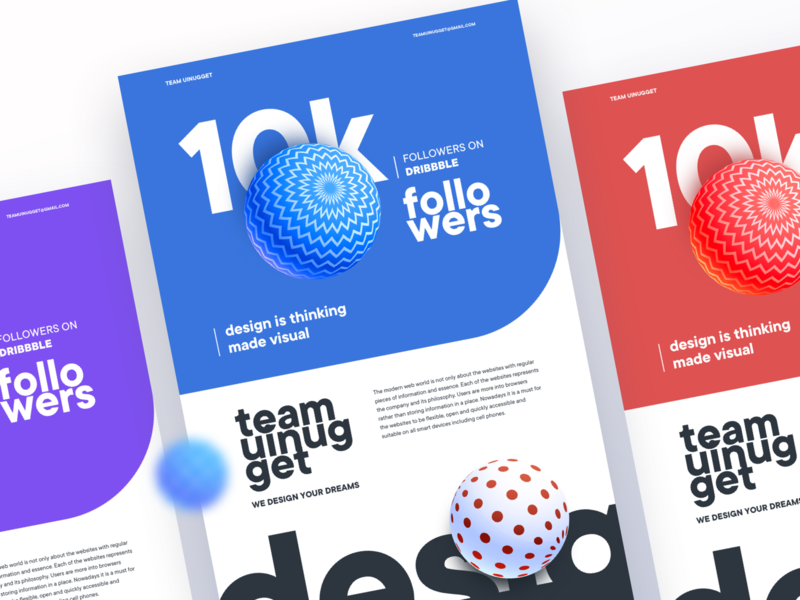 Team UINugget: 10000 Followers illustration app landing page branding landing page template design typography creative gradient dribble invite dribbble best shot design by team uinugget uinugget teamuinugget dribbble followers 10k followers