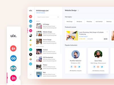 Online Learning Platform dribbble dribbble best shot teamuinugget uinugget website design template learning management system design app class online app online course dashboard template dashboad learning platform learning app skillshare lynda online learning