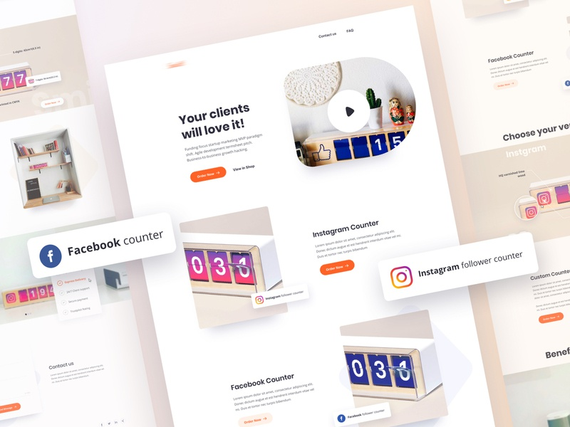 Counter Product Web UI dribbble debut dribbble best shot teamuinugget uinugget product design tool product design software product product card product brochure product catalog product website product landing product designer product design product branding