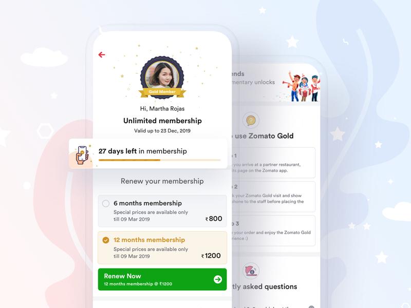 Zomato Gold Membership Page profile card profile zomato ad gold membership zomato membership membership page design team zomato zomato design zomaland zomato gold zomato